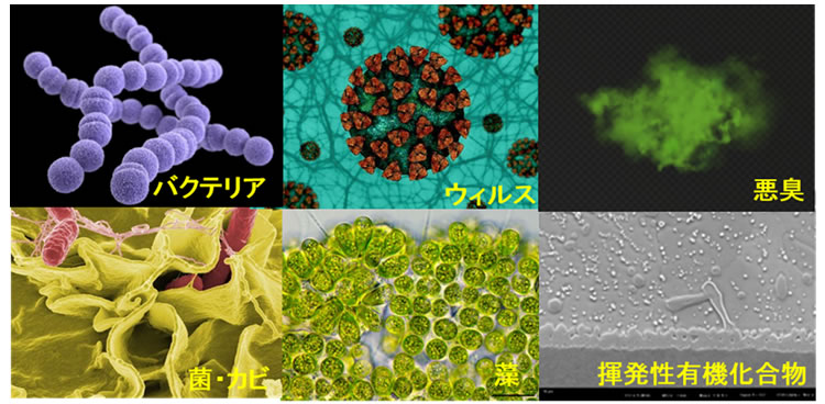 ナノゾーンコートで分解できる有機物